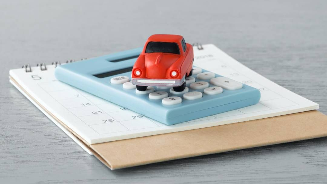 toy car on a calculator